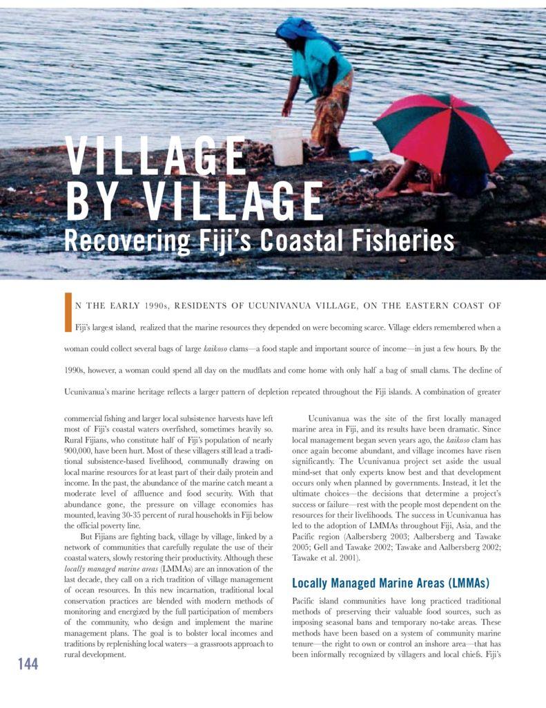 thumbnail of Fiji LMMA case study in WRR 2005 – Village by village